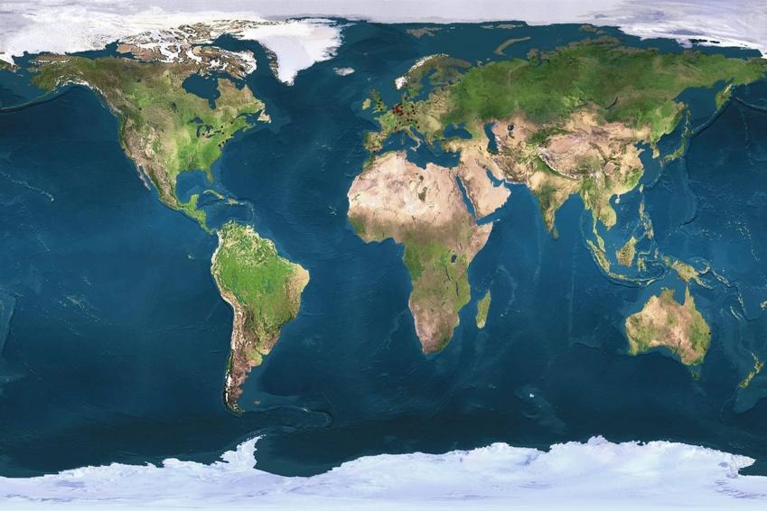 Die Kontinente Der Erde